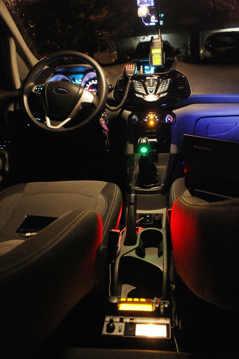 Two-Way Radio Inside an EcoSport